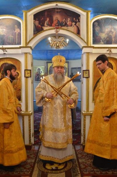 Архиерейская служба в Тюльгане