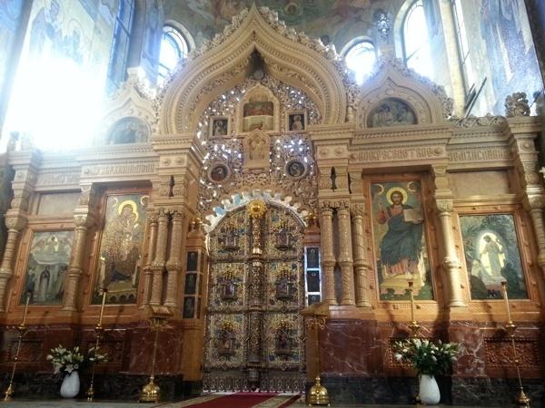 Алтарь храма Спаса на Крови в Питере