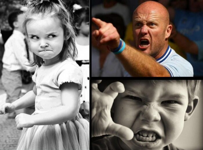 Раздражение и гнев искажают черты лица человека